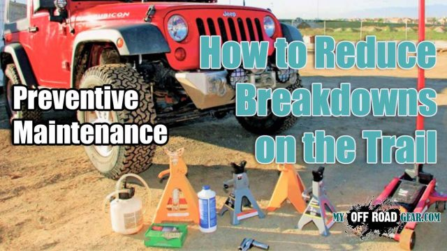 How to Reduce Breakdowns on the Trail