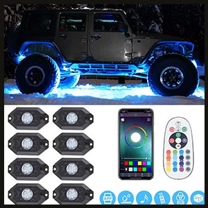 SUNPIE RGB LED Rock Lights  for Jeep, Off-Road, Truck and SUV