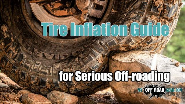 Tire inflation guide for off-roading